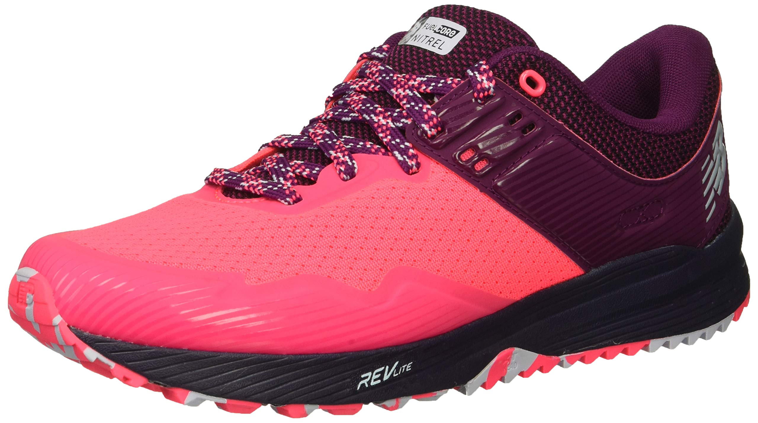 New Balance Women's Nitrel V2 FuelCore Trail Running Shoe Pink zing/Claret/Pigment 5 B US by New Balance (Image #1)