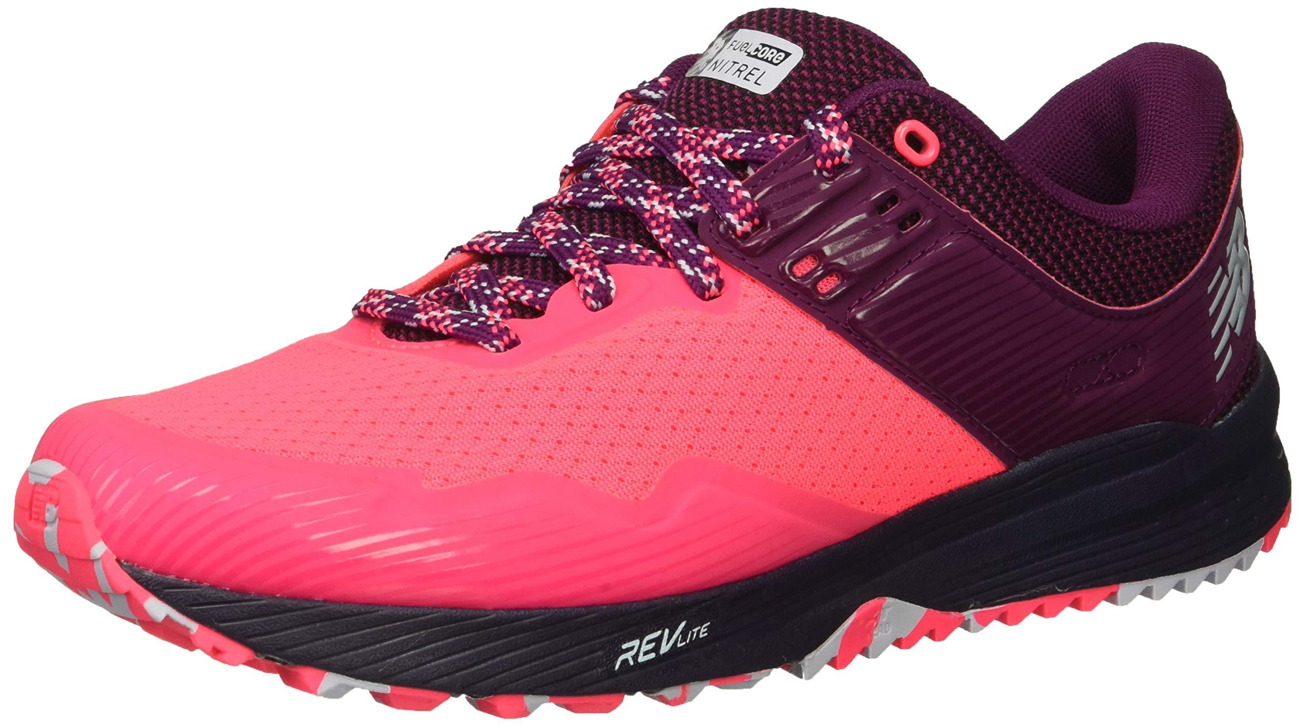 New Balance Women's Nitrel V2 FuelCore Trail Running Shoe Pink zing/Claret/Pigment 5 B US
