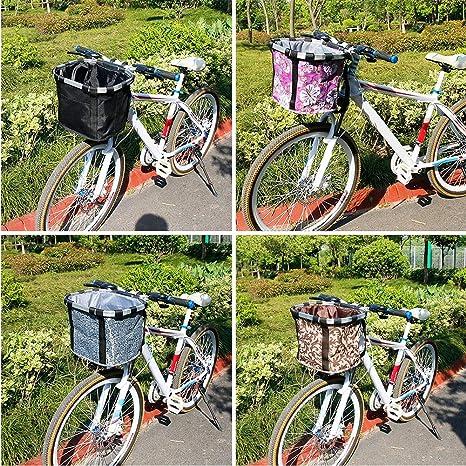 Cesta plegable para bicicleta mascotas gato y perro, cesta de la ...