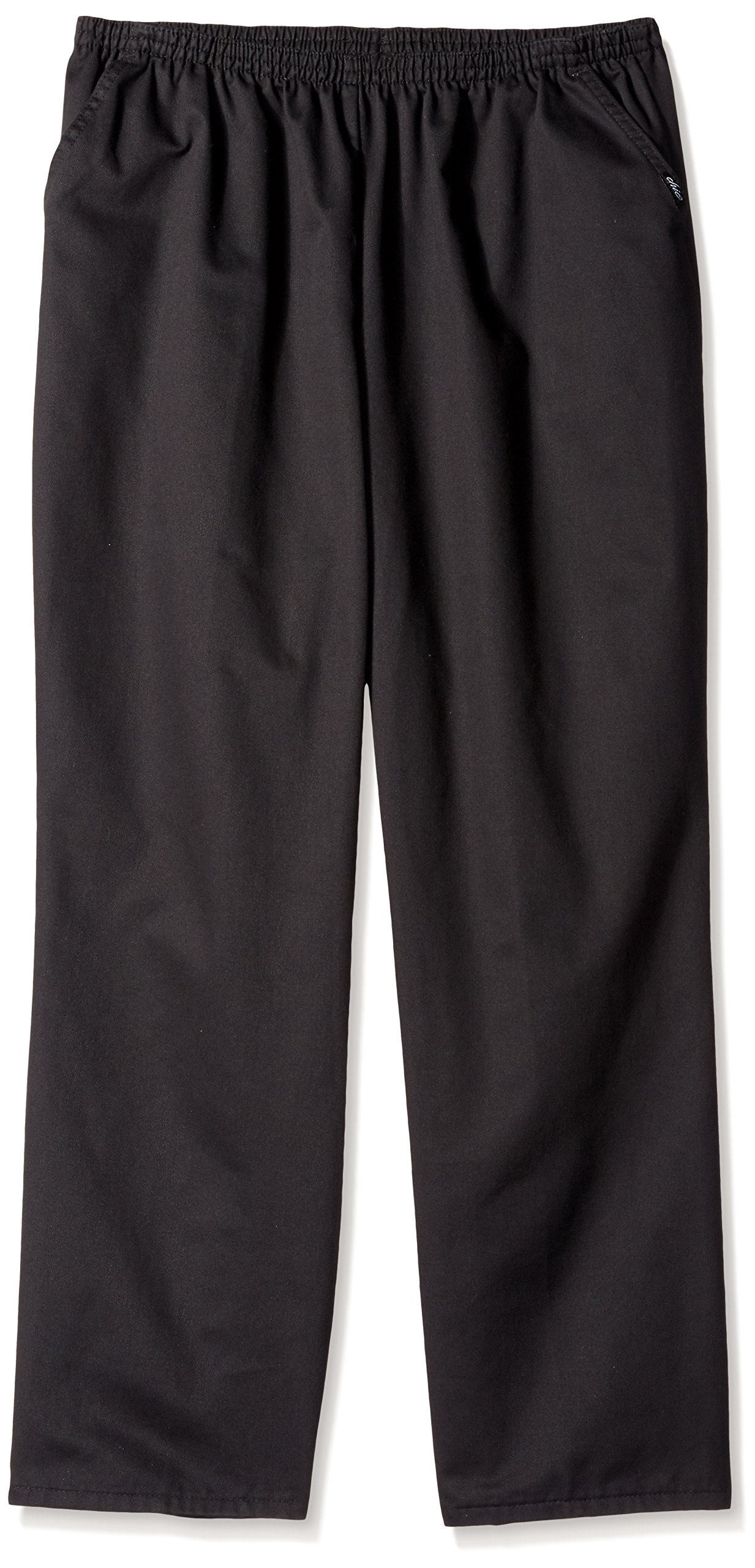 Chic Classic Collection Women's Petite Plus Stretch Elastic Waist Pull-On Pant, Black Twill, 20P