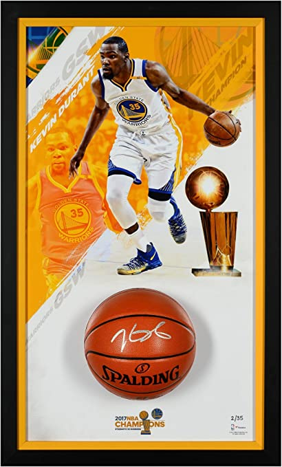 37fa6400c6bf Kevin Durant Golden State Warriors Framed 24 quot  x 40 quot  2017 NBA  Finals Champions Shadowbox