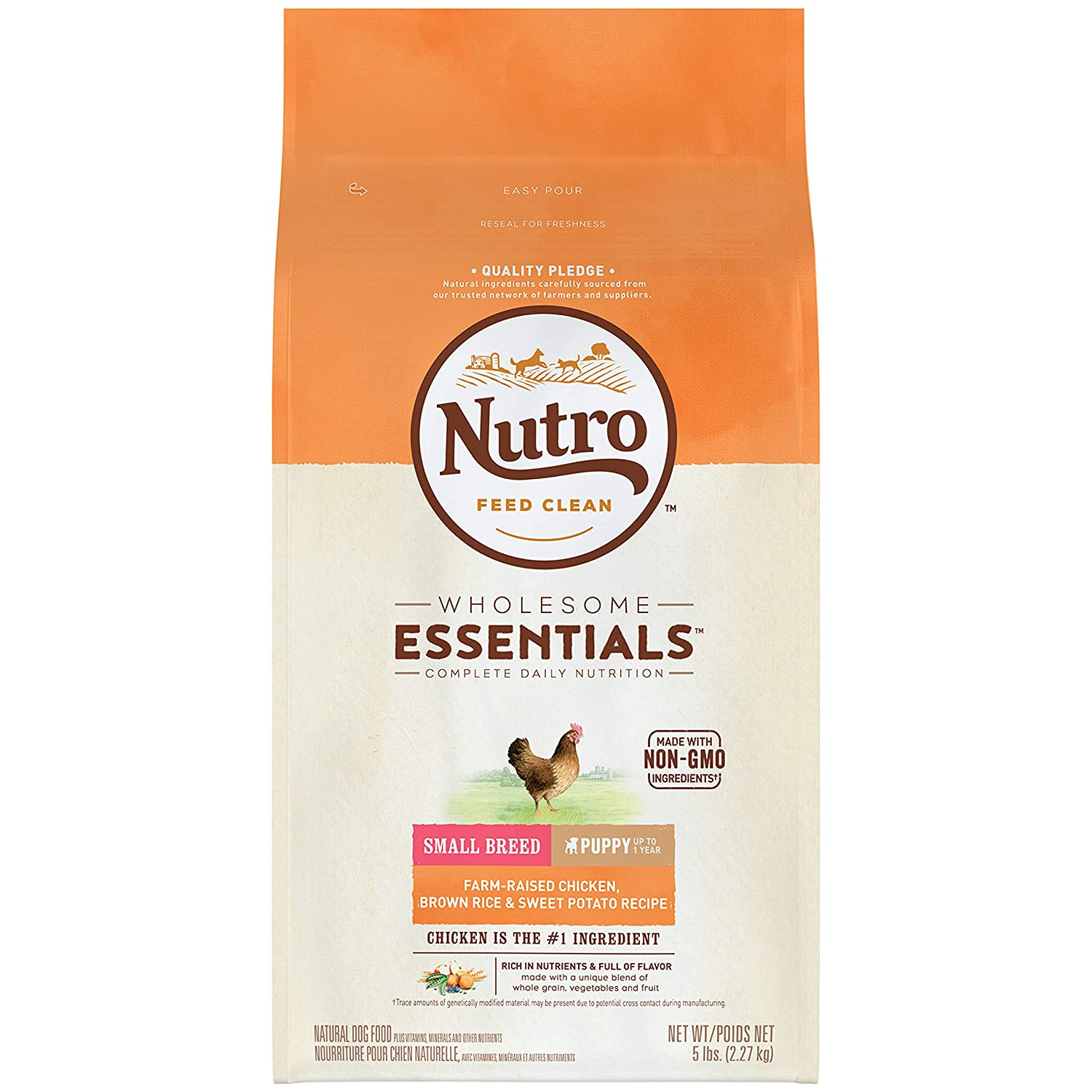 3.NUTRO Wholesome Essentials Puppy Dry Dog Food, All Breed Sizes