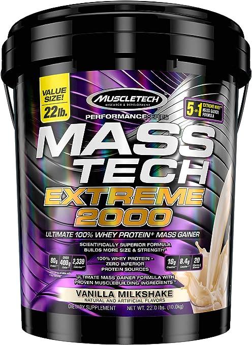 Muscletech Performance Series Mass Tech Extreme 2000 Vanilla Milkshake - 9979 gr