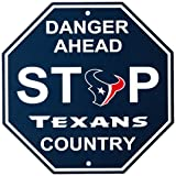 "NFL Houston Texans Stop Sign, 12"" x 12"