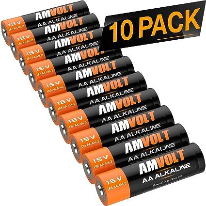e7b709e54 10 Pack Pilas AA [Ultra Power] Premium LR6 alcalinas Batería 1,5 voltios