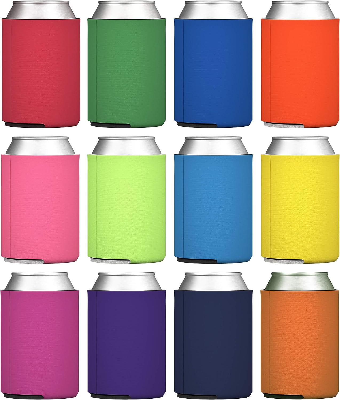 color negro aislantes con mangas de arco/íris Enfriadores de latas de cerveza 50 paquetes 25 pcs Rainbow de neopreno 12 paquetes 25 paquetes GOCOHHHI plegables