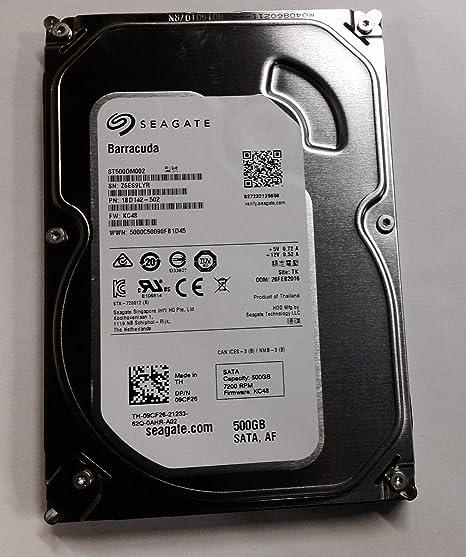 Seagate 500GB SATA 3.5 Disco Duro PN 1BD142-303 TK Z3T ST500DM002 FW KC48