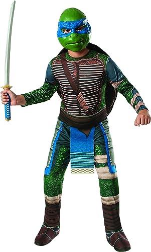 Rubies Costume Mens Teenage Mutant Ninja Turtles Movie Deluxe Adult Muscle Chest Leonardo, Multicolor, Standard