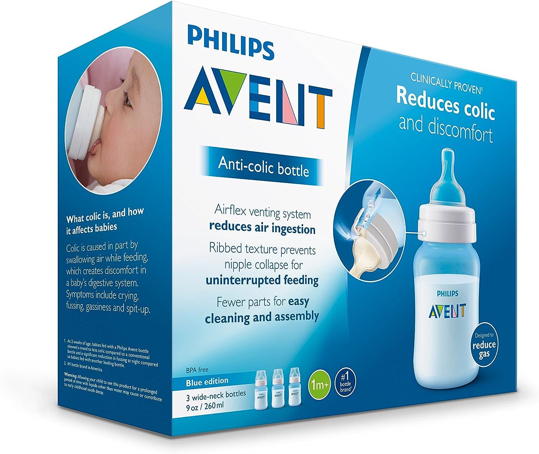 Philips Avent Classic Biberon 260 ml Pack de 2 Bleu SCF565//27