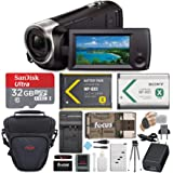 Sony CX405 Handycam 1080p Camcorder with 32GB SD Card and Accessory Bundle
