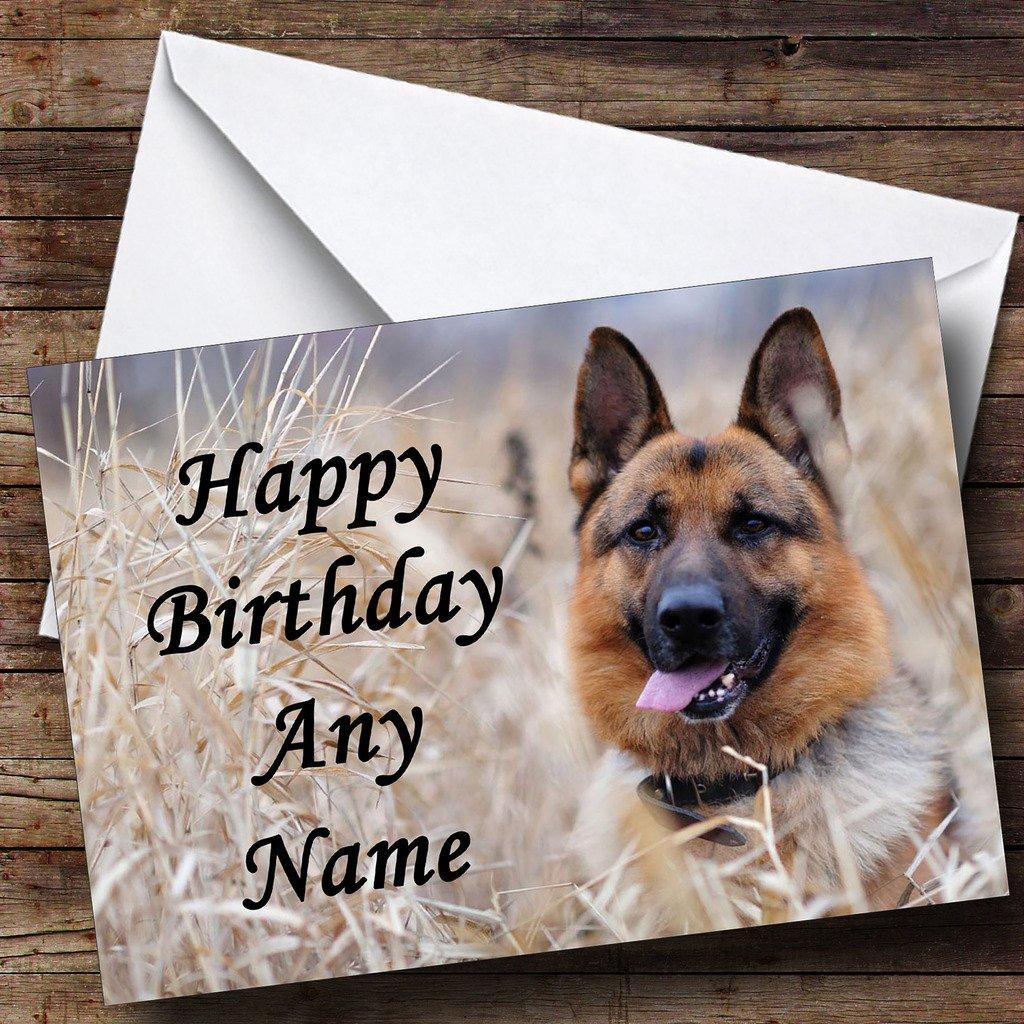 German Shepherd Dog Personalised Birthday Card Amazon Office