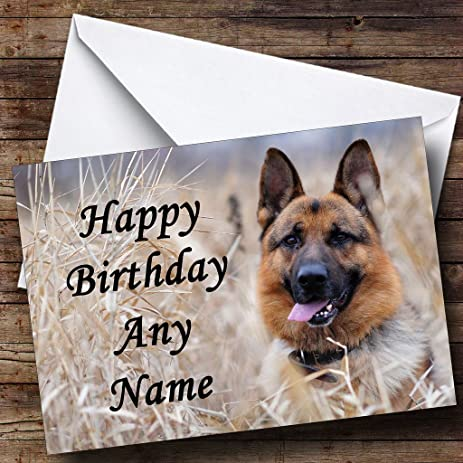Amazon german shepherd dog personalized birthday greetings german shepherd dog personalized birthday greetings card m4hsunfo