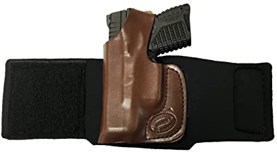 SIG SAUER P938 Pro Carry Ankle Holster Left Hand Brown Leather & Neoprene Gun Holster