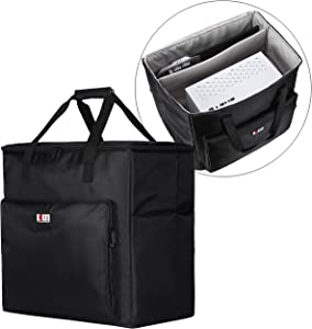 BUBM Desktop Gaming Computer Tower PC Carrying Case Travel Storage Bag for Tower Case, Monitor(Up to 24 inch), Keyboard and Mouse-Black