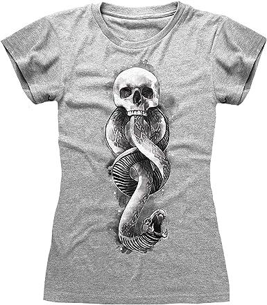 Harry Potter Oscuro Artes de la Serpiente de Las Mujeres Camiseta Cabida | mercancía Oficial: Amazon.es: Ropa y accesorios