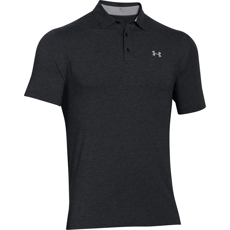 (アンダーアーマー) UNDER ARMOUR チャージドコットンスクランブルロゴ(ゴルフ/ポロシャツ/MEN)[1281003] B014SVTO0S XS|グレー/ブラック グレー/ブラック XS