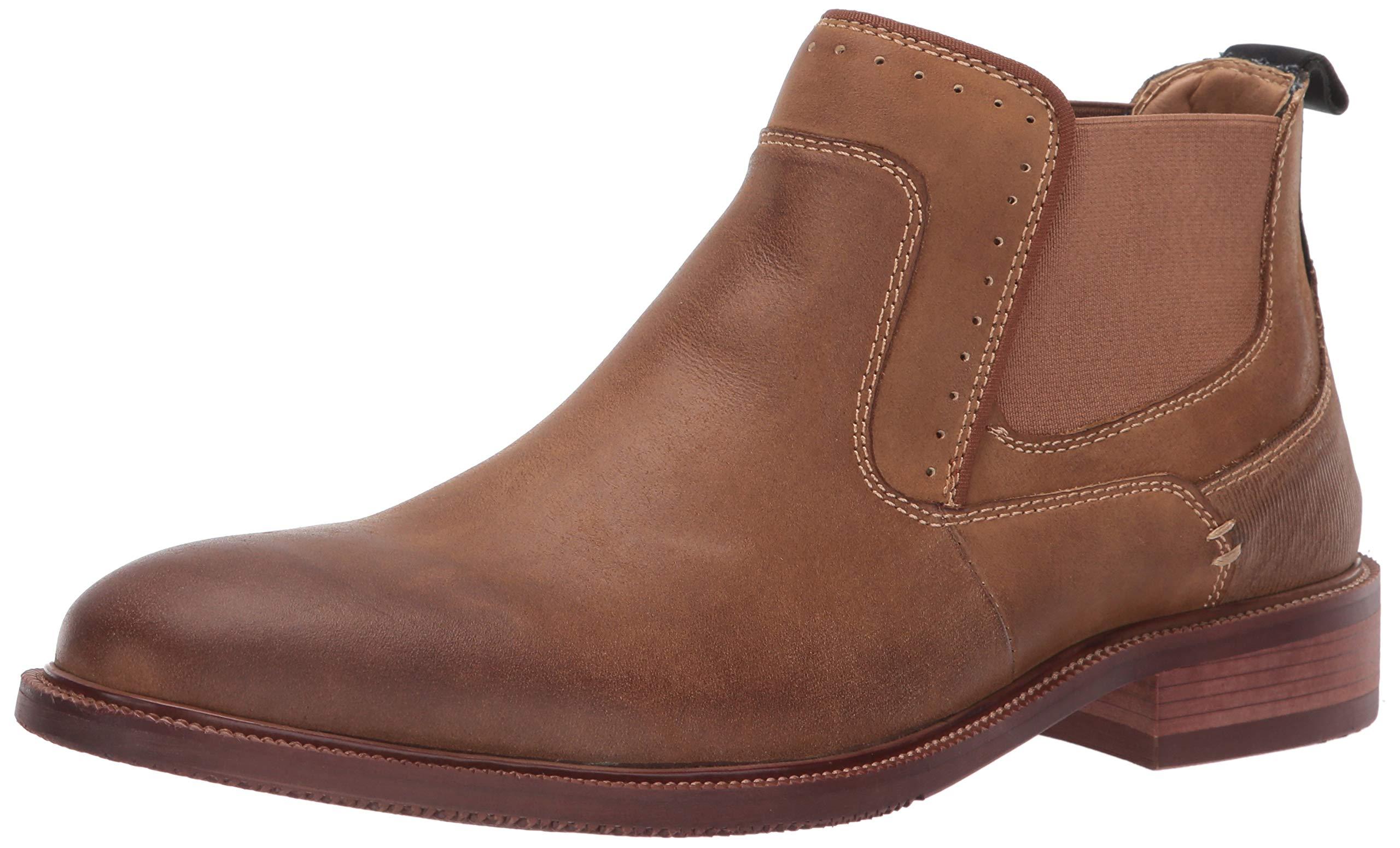 Steve Madden Men's KEMPTIN Boot, Bone Leather, 12 M US