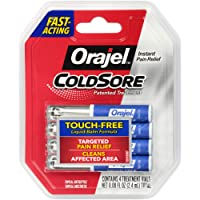 Orajel Cold Sore Treatment – Instant Relief for Cold Sore Pain- From #1 Oral Pain Relief Brand