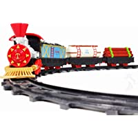 Jack Royal Simulating Classic Express Kids Electric Toy Train 14 Piece Set Battery Operated