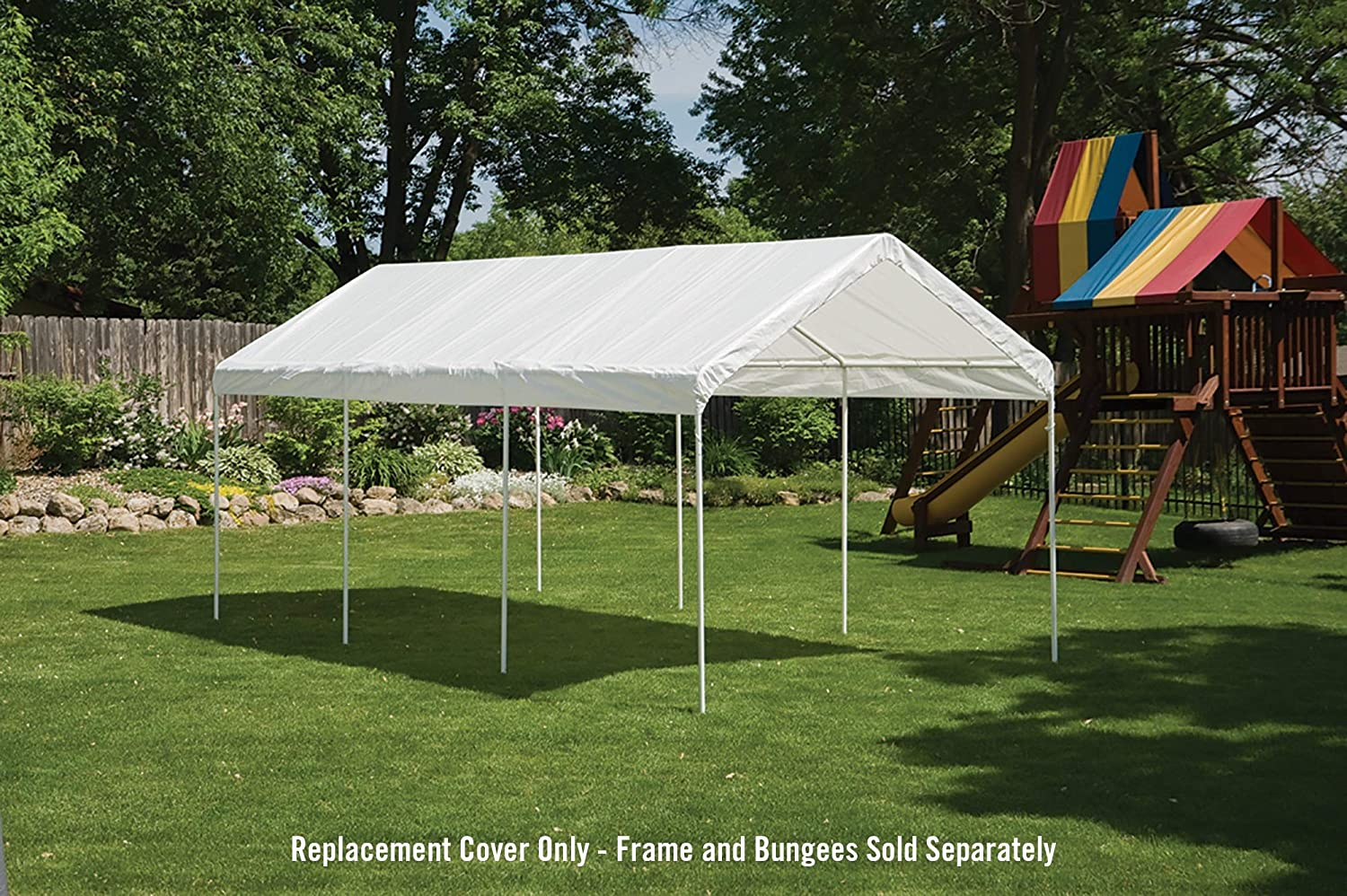 Amazon com shelterlogic supermax all purpose outdoor 10 x 20 feet canopy replacement cover for 2 inch frame canopies cover only frame not included