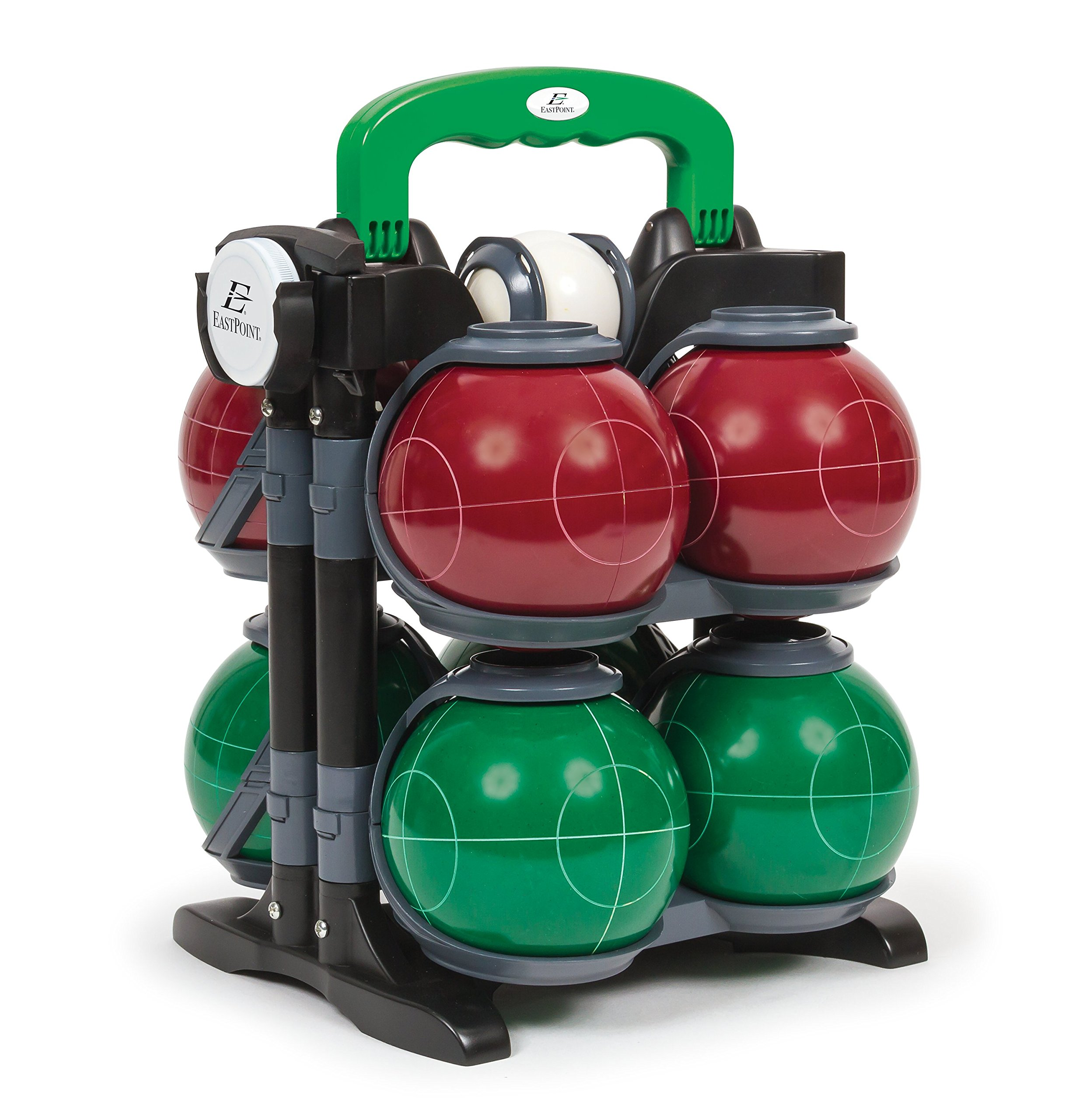 EastPoint Sports Tournament 110MM Resin Bocce Lawn Game with Carrier
