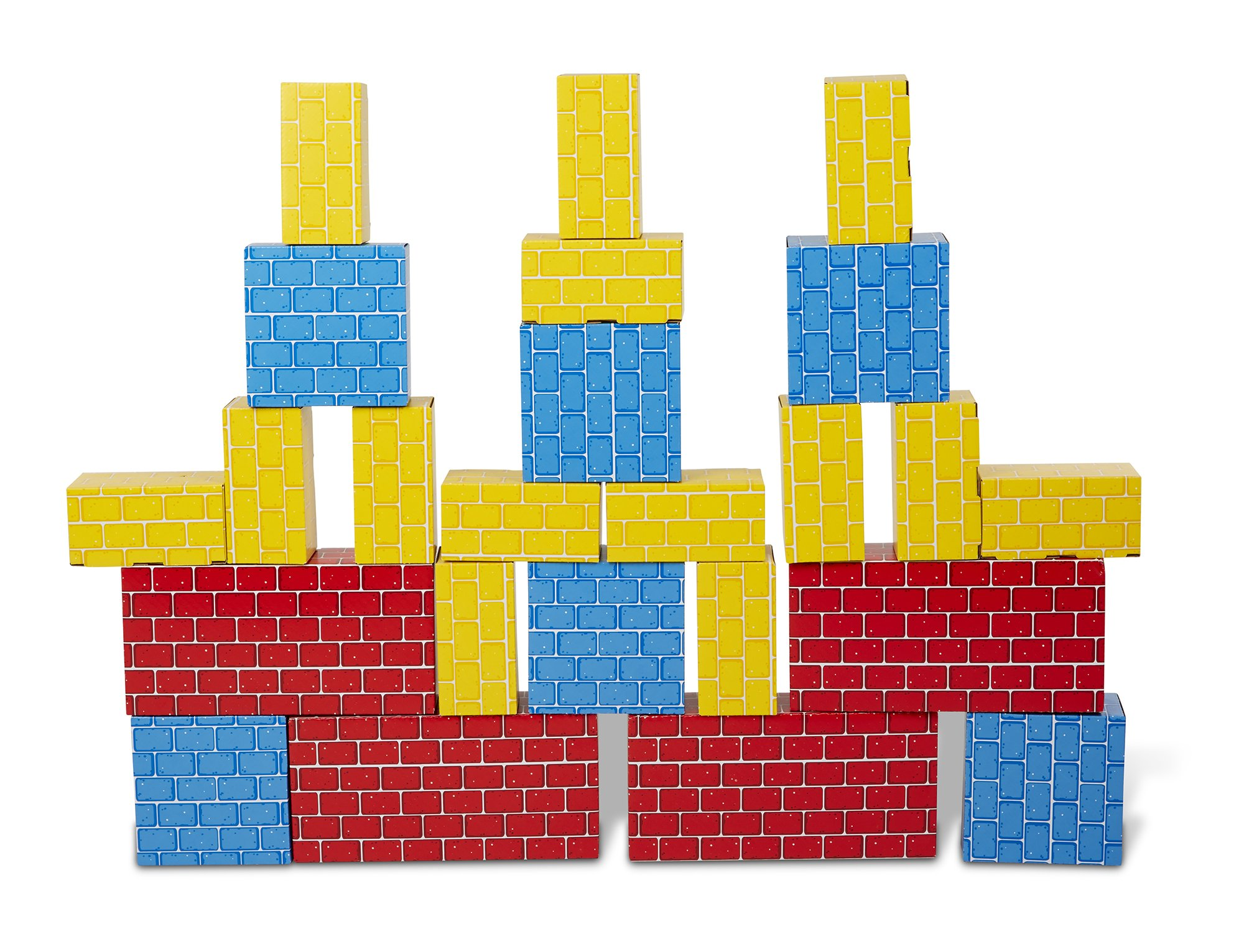 Melissa & Doug Extra-Thick Cardboard Building Blocks - 24 Blocks in 3 Sizes by Melissa & Doug (Image #6)
