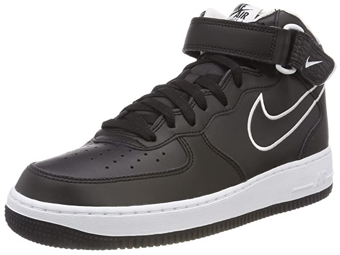 Amazon.com | Nike Air Force 1 Mid 07 Leather Mens Shoes Black/White aq8650-001 (10 D(M) US) | Basketball
