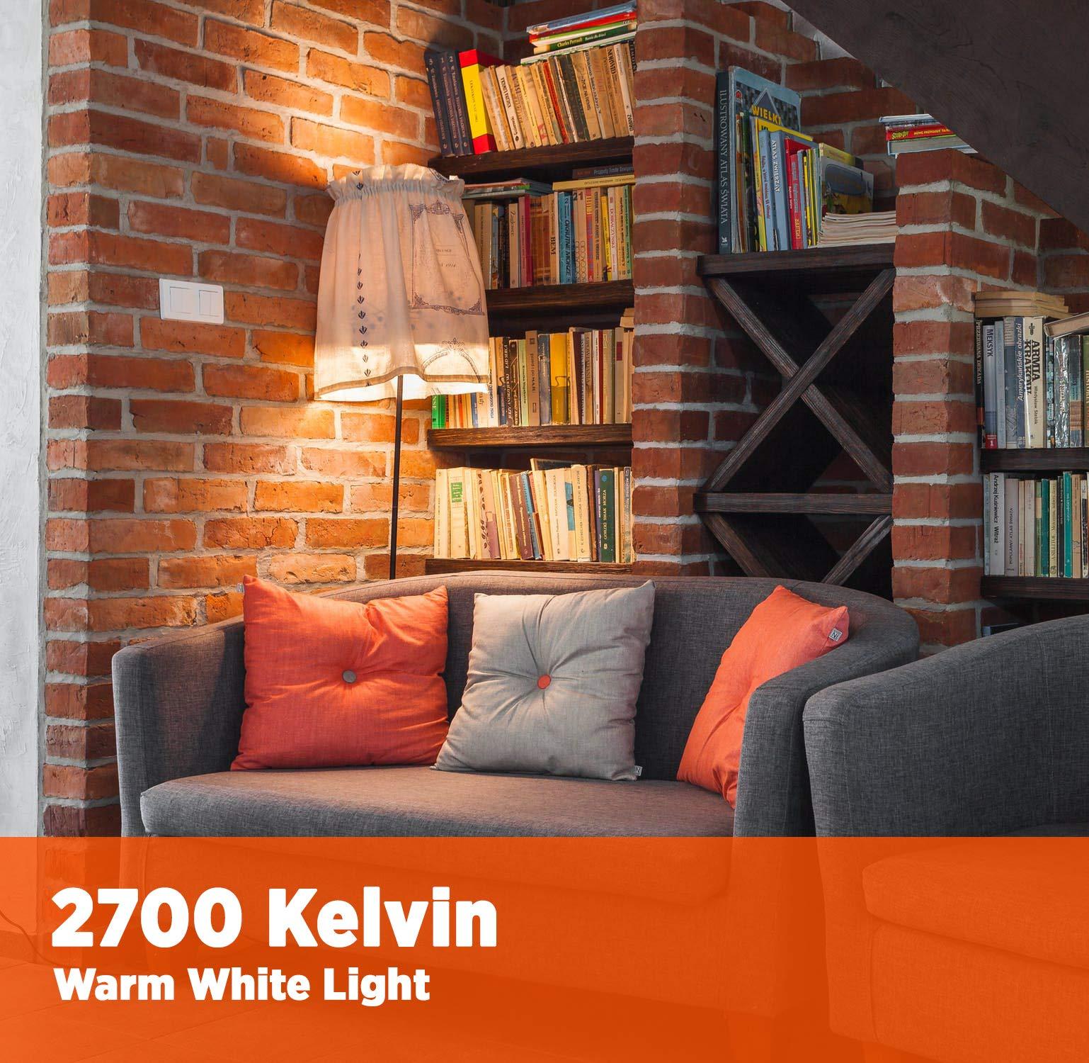GoodBulb 23 Watt CFL Light Bulbs - T2 Spiral Compact Fluorescent - GU24 Light Bulb Base - 2700K 1600 Lumens - 4 Pack by GoodBulb (Image #4)