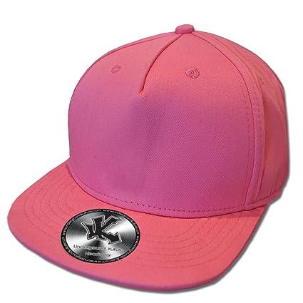 Amazon.com  Underground Kulture Neon Pink Flat Peak Snapback Baseball Cap   Everything Else 2a834ac356f