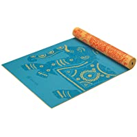 Gaiam Yoga Mat Premium Print Reversible Extra Thick Exercise & Fitness Mat for All Types of Yoga, Pilates & Floor Exercises