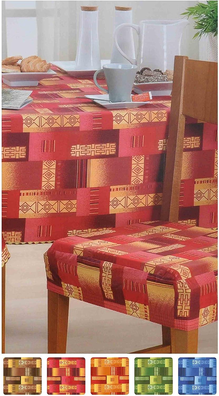 Bordeaux Eldorado Cuscino Copri Sedia con Fascia Elastica