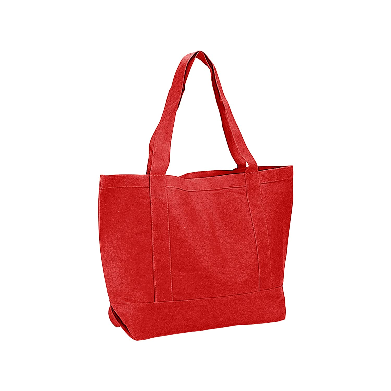 コットンキャンバストートバッグbag-1503 a B01DAIWFDS レッド
