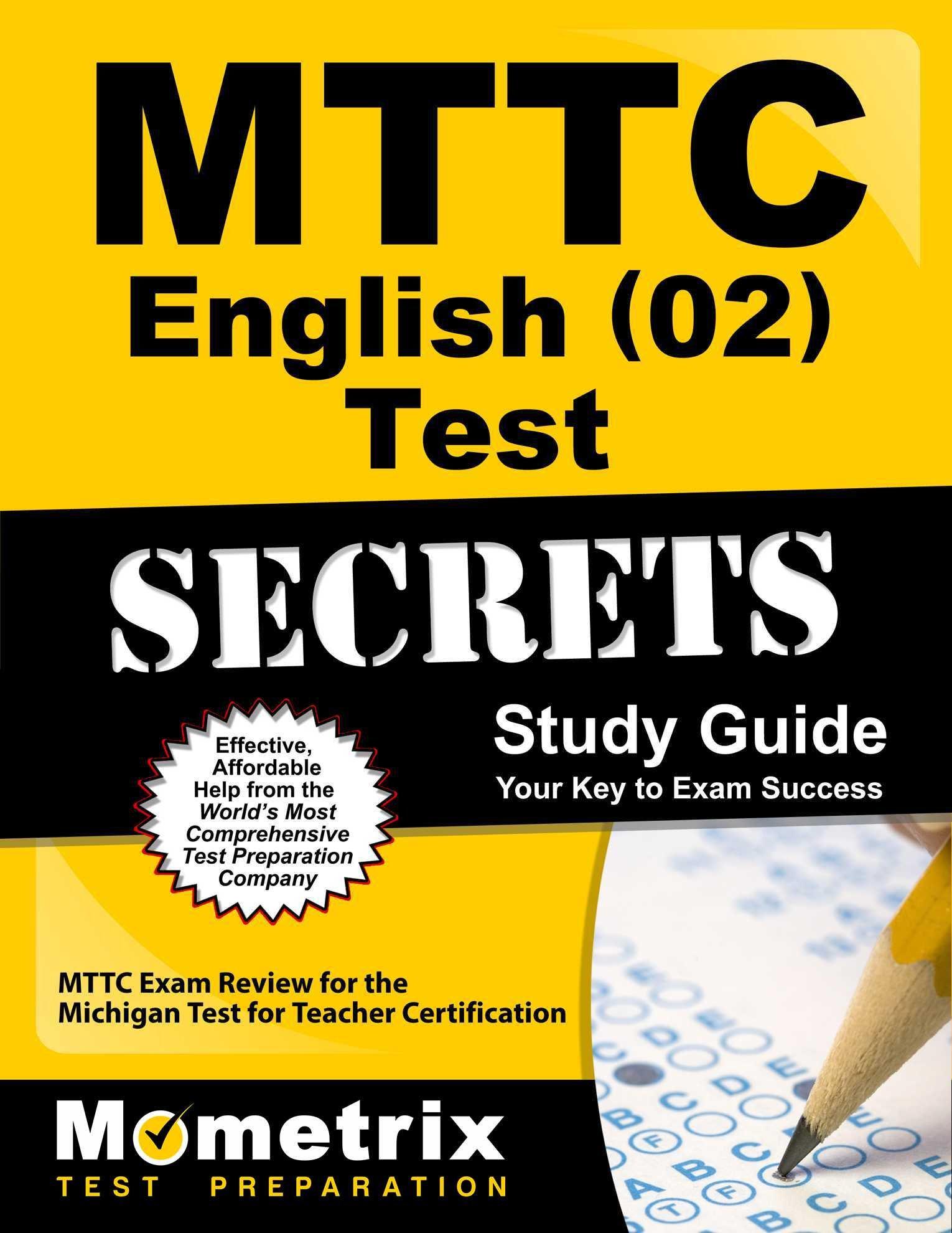 MTTC English Secrets Study Guide product image