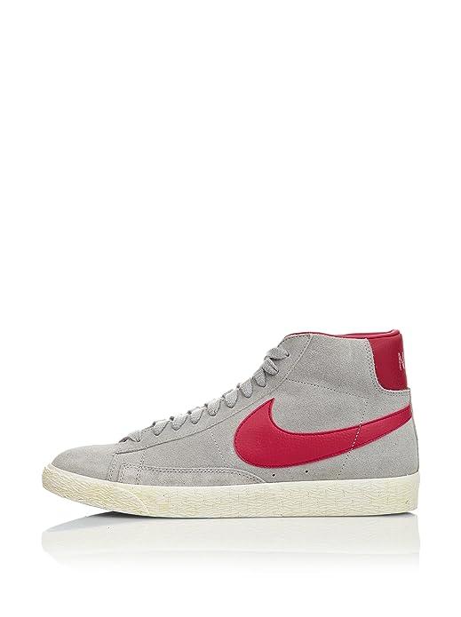 Amazon.com | Nike Blazer Mid Prm Suede 524205 001 Mens Premium Trainers  Sneakers Hi Tops Wolf Grey Fire Berry Casual Shoes (uk 11 us 12 eu 46) |  Fashion ...