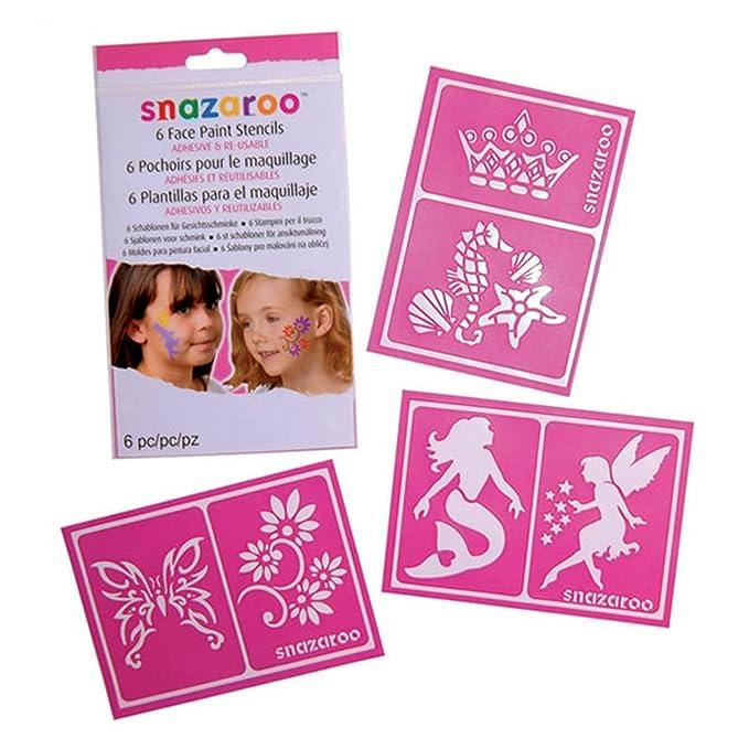 Face Paint Stencils Set Girls Snazaroo