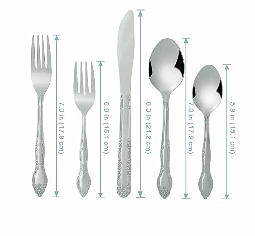 Marvelous Amazon.com | Bon Flora 20 Piece Stainless Steel Flatware Set: Flatware Sets