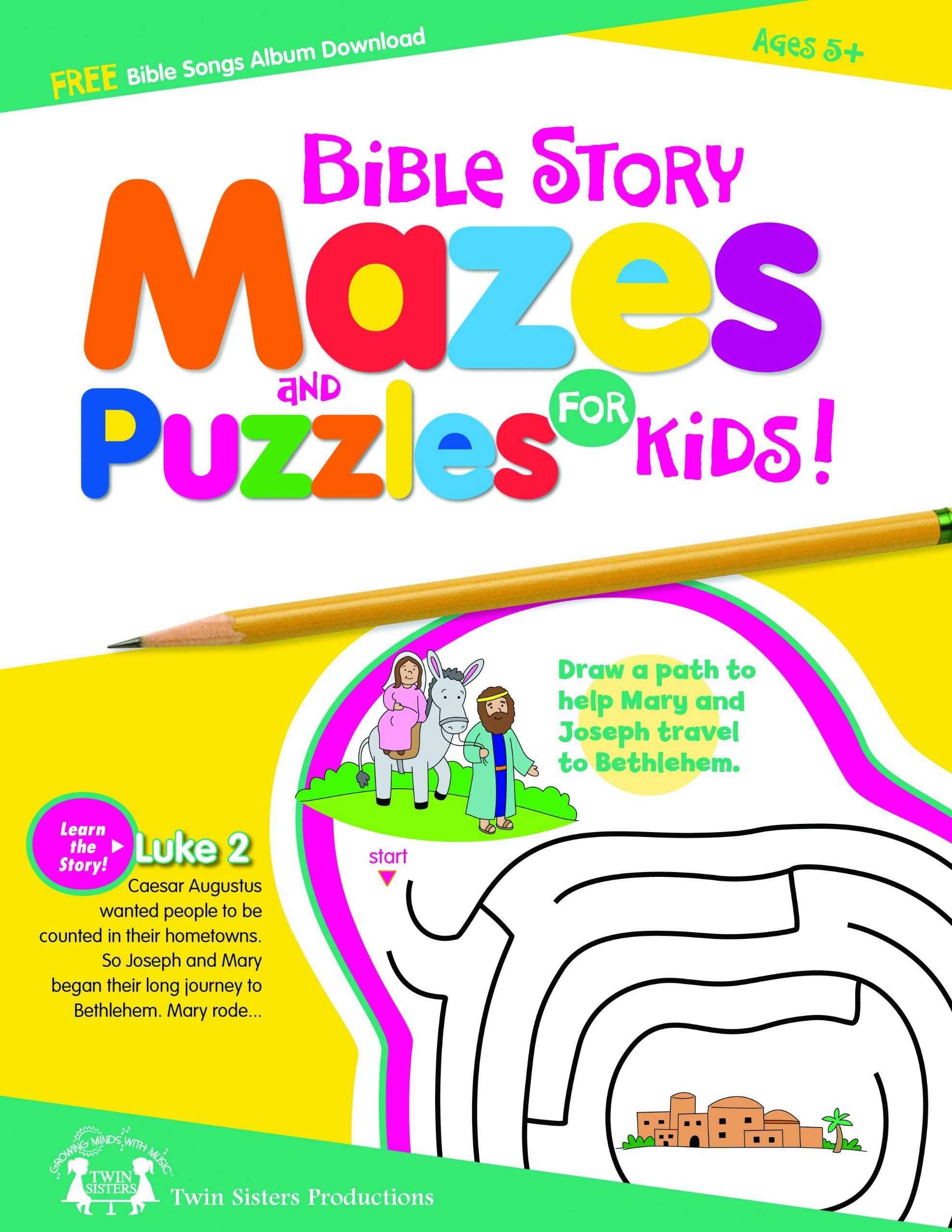 Bible Story Mazes Puzzles For Kids 48 Page Activity Book Twin Sisters Productions 9781599229447 Amazon Books