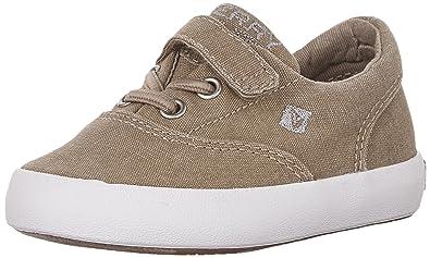 Sperry Wahoo Alternative Closure Sneaker (Toddler/Little Kid/Big Kid), Khaki