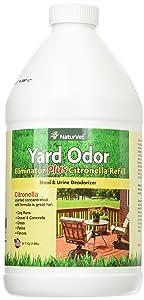 NaturVet Yard Odor Eliminator Plus Citronella, Stool and Odor Deodorizer Refill, 64 fl oz Liquid, Made in The USA