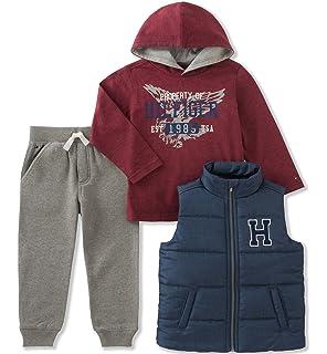 f1bce172 Amazon.com: Tommy Hilfiger Baby Boys' Draper Fleece Sweatsuit Set ...