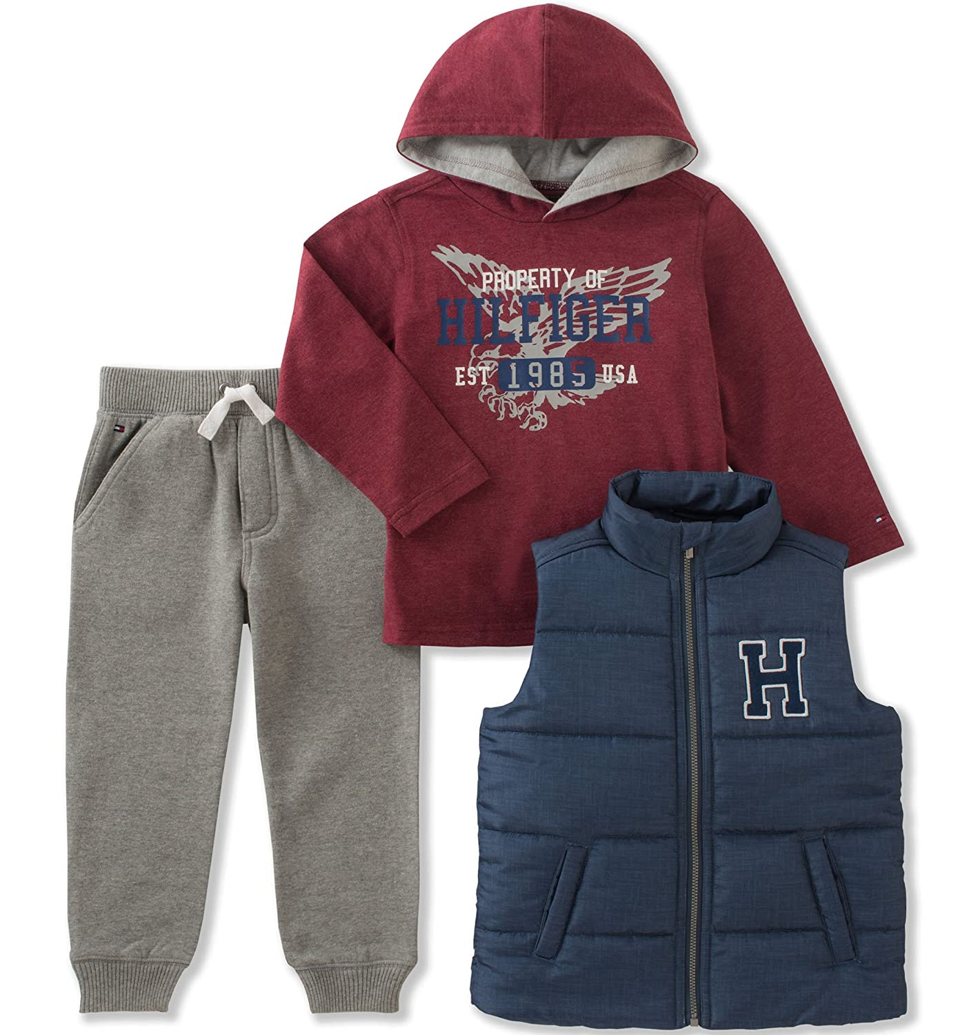 Tommy Hilfiger Boys' 3 Pc Puffy Vest Sets get discount