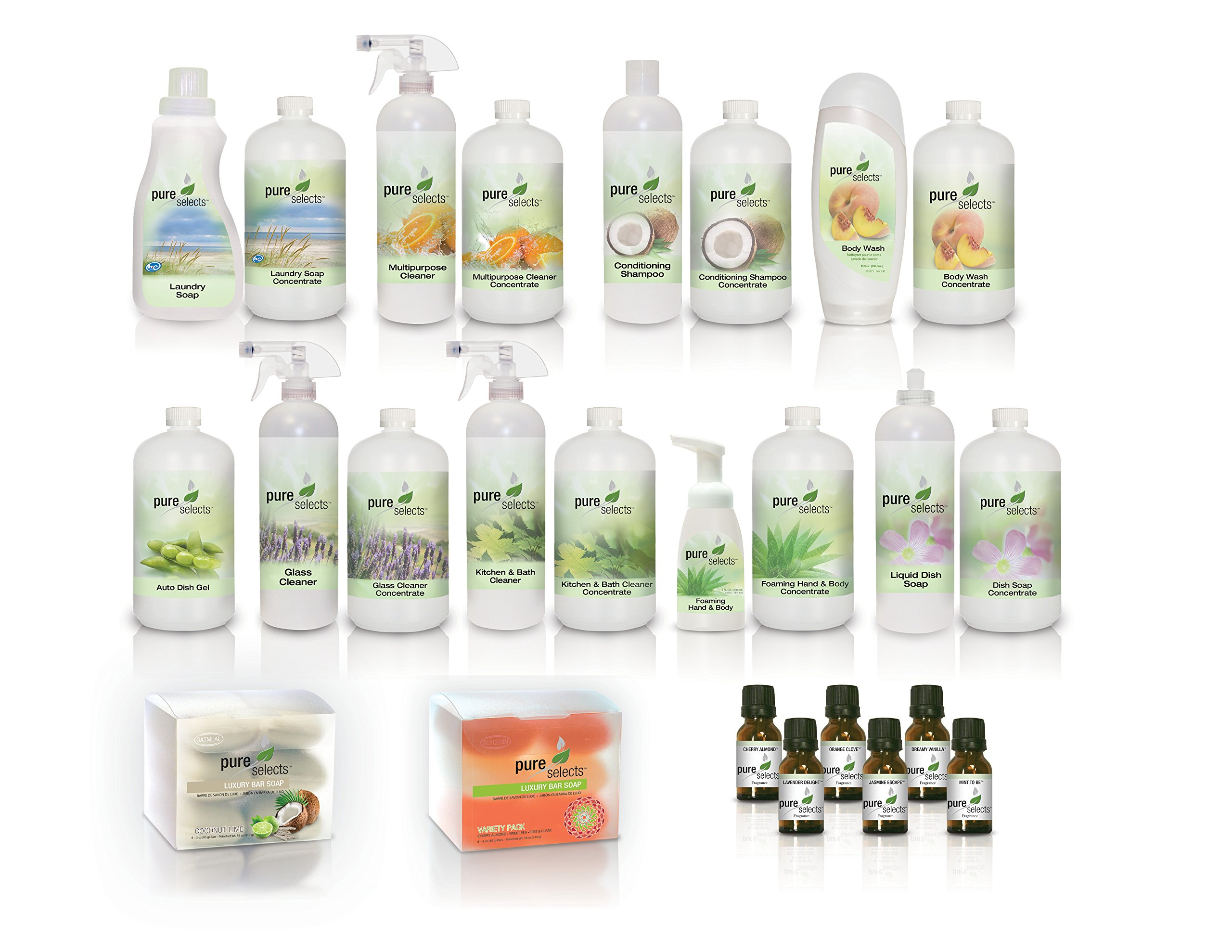 Pure Selects DELUXE Home Bundle • All Natural • No Dye • No Added Fragrance • Plant Derived Over $1000.00 in products when compared to buying ready to use products.