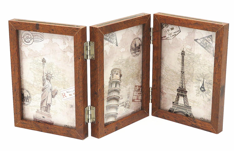 Smiling Art Bilderrahmen aus Holz für 6 Fotos (10x15 cm), klappbar ...