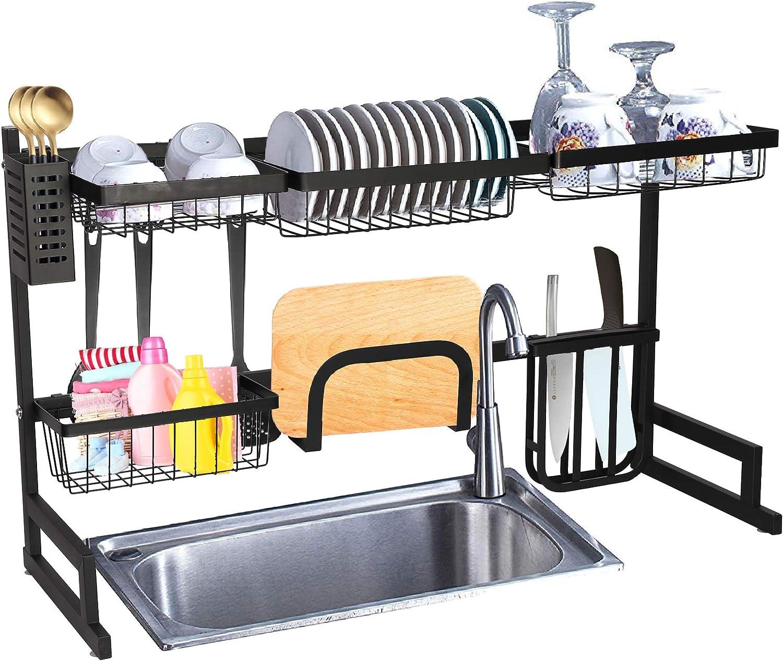 Dish Rack Drainer Dry Organizer Cutlery Holder Utensil Kitchen Stainless Steel·