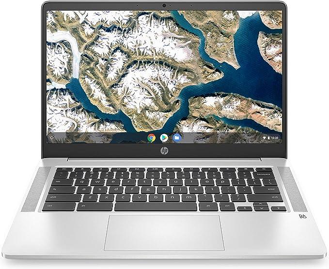 "2020 Flagship HP 14 Chromebook Laptop Computer 14"" HD SVA Anti-Glare Display Intel Celeron N5000 Processor 4GB DDR4 64GB eMMC Backlit WiFi Webcam Chrome OS (Renewed)   Amazon"
