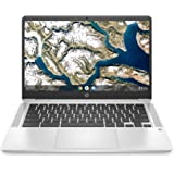 "2020 Flagship HP 14 Chromebook Laptop Computer 14"" HD SVA Anti-Glare Display Intel Celeron Processor 4GB DDR4 64GB eMMC Backl"