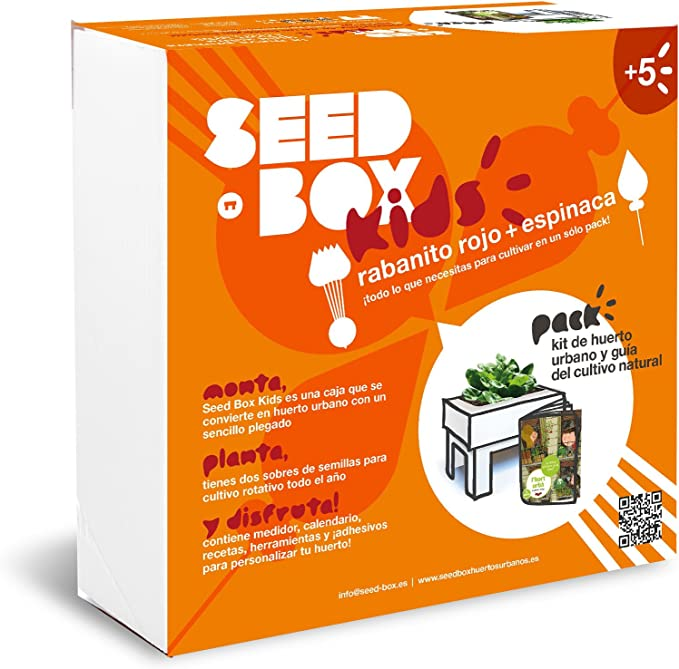 SeedBox Kids - Huerto Urbano para niños, Color Naranja: Amazon.es ...