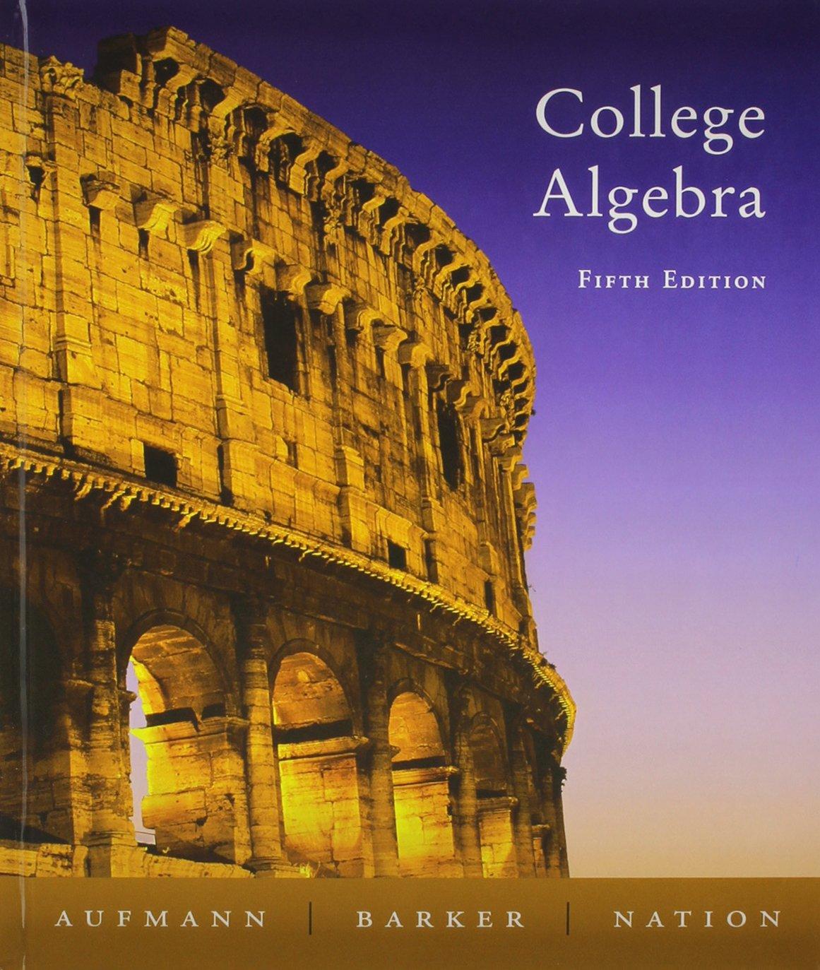 College Algebra + Study Guide 5th Ed + Smarthinking pdf