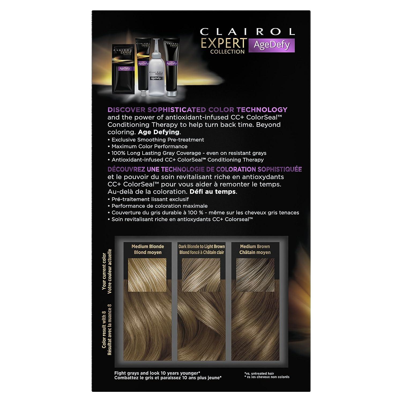 Amazon Clairol Age Defy Expert Collection 8 Medium Blonde