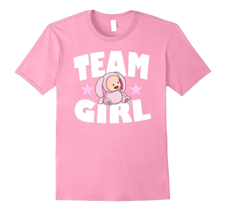 Baby Shower Team Girl Gender Reveal T-Shirt-FL